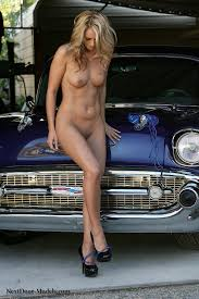 Classic cars with nude models