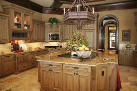 Brown Granite Kitchen Rustic Style Kitchen With Light Brown Granite Countertop