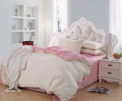 girls queen bed. Elegant Girl Bedroom With Queen Size Bed Frame, Tufted White Plain Headboard Cushion, And Girls R