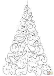 Small Picture Swirly Christmas Tree coloring page Free Printable Coloring Pages