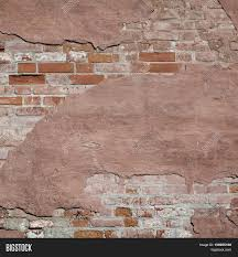 Distressed Red Plaster Wall With Cracked Surface Frame Grunge - Plastering exterior walls