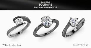 solire rings in black gold