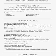 Resume Templates For Teachers Microsoft Word 2007 Template
