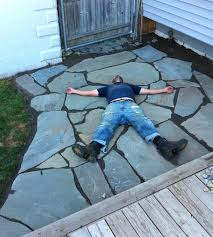 how to lay flagstone patio props to for producing the perfect patio installing flagstone patio over