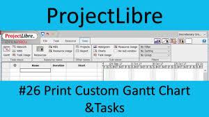 Projectlibre Export Gantt Chart Projectlibre 26 Print Custom Gantt Chart And Tasks