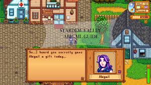 stardew valley abigail guide schedule gifts questions stardew valley