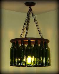 beer bottle chandelier small