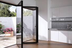 glass bifold doors flush glazed frameless bi fold with aluminium the folding