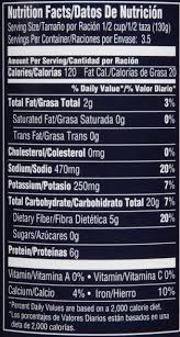 bush s garbanzo beans nutrition facts