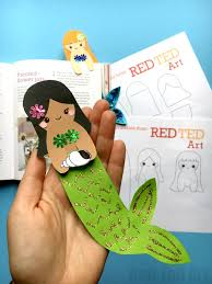 red ted art book mermaid bookmark diy red ted art s of red ted art