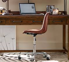 leather swivel office chair. Mitchell Swivel Desk Chair Pottery Barn Throughout Leather Idea 17 Office L