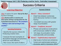 Creative Writing Success Criteria