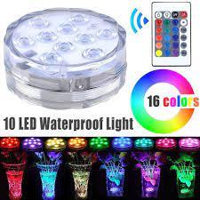 Đèn LED 10 bóng chống nước thả chìm trang trí hồ cá,bể cá,lọ hoa...