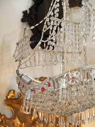 chandeliers crystal ship chandelier on wire frame in the form of a for