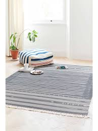 grey and white dhurrie rug