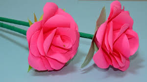 Rose Paper Flower Making How To Make Small Rose Flower With Paper Making Paper Flowers Step By Step Cambo News Report