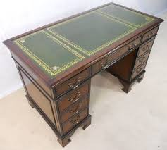 antique georgian style gany leather top writing desk sold
