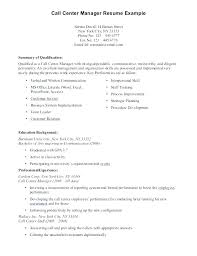 Sample Resume For Call Center Without Experience