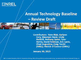Annual Technology Baseline – Review Draft - ppt download
