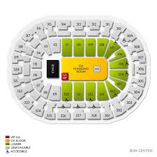 The Joint Seating Chart Tulsa Ok Bok Center Tickets