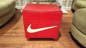 big nike box storage storage box vintage retro storage box seat ottoman blanket box shoe box