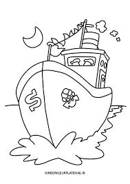 Kleurplaat Pakjesboot Sinterklaas Feestdagen