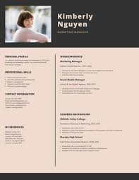 Modern Resume Infographics Black And Cream Modern Infographic Resume Templates By Canva