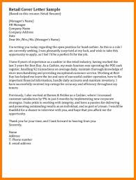 6 Retail Covering Letter Sample Activo Holidays