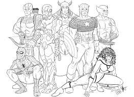 Avengers coloring pages are featured on 4 main characters iron man, hulk, captain america, thor, and with avengers: Avengers Superheroes Printable Coloring Pages