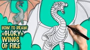 Small Picture How to draw Wings of Fire Glory Easy step by step drawing