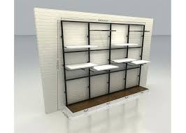 wall display shelves commercial retail wall mounted display racks modern style with wooden shelf wall mounted