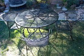 vintage woodard wrought iron patio furniture vintage wrought iron patio settable 4 vintage patio chairs salterini vintage wrought iron patio furniture