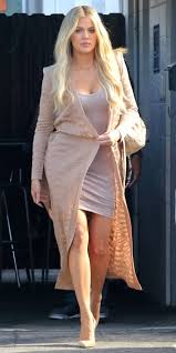 Khlo Kardashian Nude Street Style Look InStyle