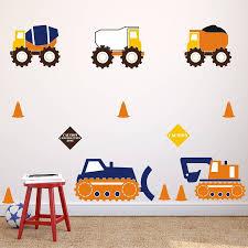 construction trucks wall stickers