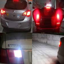 <b>10X</b> White Red Blue Cob LED 12Smd 1156 BA15S <b>1157 BAY15D</b> ...