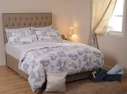 toile bedding sets blue