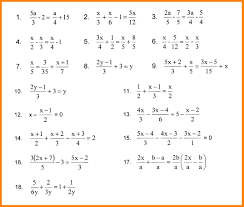 solving linear equations with fractions linear equation worksheets with answers 1 jpg