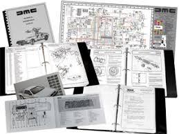delorean motor company complete service manual set full complete service manual set full color wiring diagram