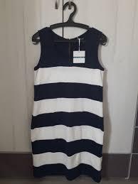 Pim Larkin Sleeveless Dress Striped Blue And White Fashion