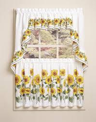 Sunflower Themed Kitchen Decor Furniture Cute Decorative Kitchen Curtains For Kitchen Window