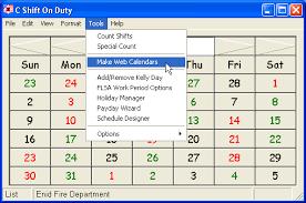 Firefighters Shift Calendar 2020