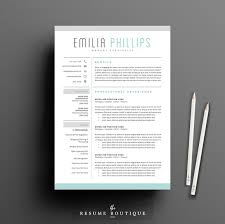 Resume Templates Creative Delectable Resume Template 28 Page Pack Aqua Resume Templates Creative Market