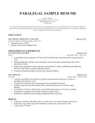Resumes For Paralegals Best Paralegal Resume Example Professional