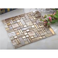 crystal glass mosaic tile backsplash metal tiles wall backsplashes bathroom aluminum tile decor klgt408