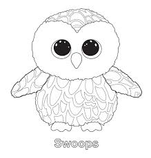 Small Picture Beanie Boos Coloring Pages Only Alltoys for