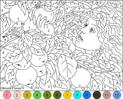 Small Picture color by number coloring pages hard WHIMSICAL COLOR BY NUMBER