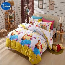disney winnie the pooh bear beddiings comforter sets single queen twin full size cute kid cartoon