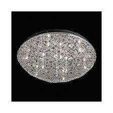 echo 9ch echo chrome and crystal flush ceiling light