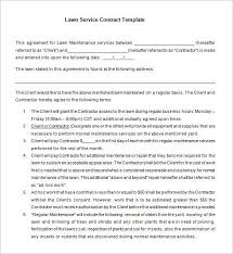 Yearly Contract Template] 7 Lawn Service Contract Templates Free ...