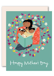 Reading Together Happy Mothers Day Card By Pencil Joy